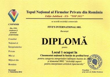 Locul 1 - TOP 2011 CNIPMMR